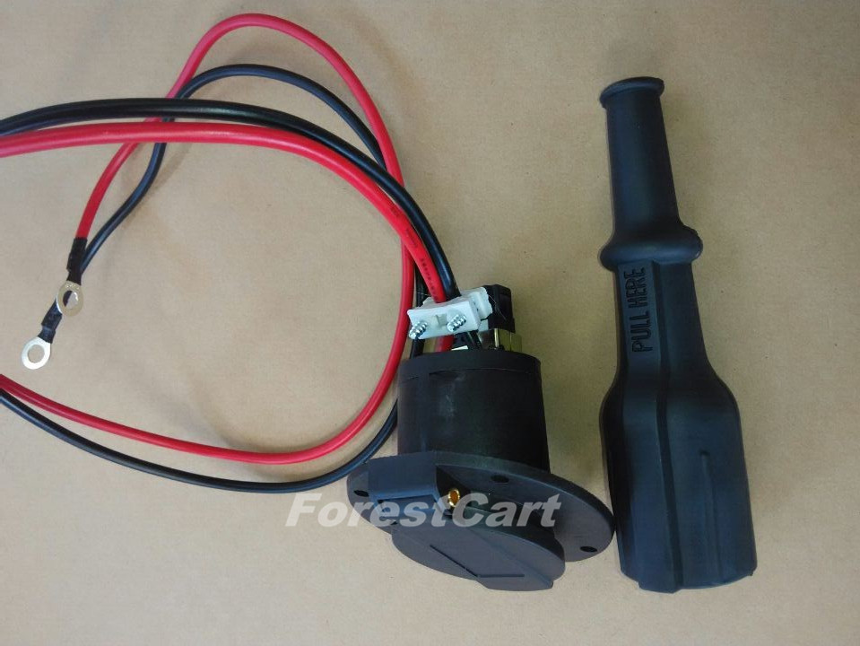 Golf Cart Dc Receptacle Plug 36v  48v  Charger Outlet For